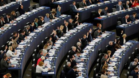 Un vote au Parlement européen à Strasbourg.