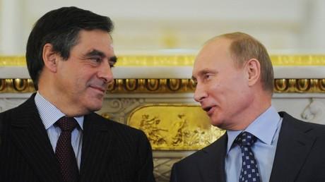 Rencontre entre Vladimir Poutine et François Fillon en 2011