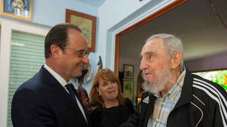 François Hollande rencontrant Fidel Castro, alors déjà «retraité» de la politique, en mai 2015