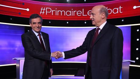 Les deux finalistes de la primaire, François Fillon et Alain Juppé