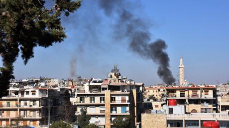 Les quartiers d'Alep-ouest bombardés par les rebelles le 20 novembre. L'offensive de l'armée syrienne a permis la libération récente de plusieurs quartiers orientaux