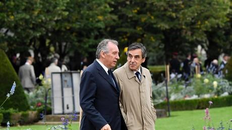 François Bayrou et François Fillon à Paris