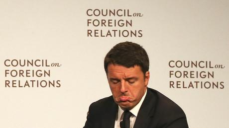 Matteo Renzi discutait des affaires économiques de son pays au Council on Foreign Relations en septembre dernier. Des banquiers pensent qu'une défaite lors de son référendum mènerait à des faillites en chaîne des établissement bancaires de son pays
