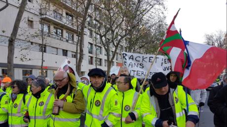 Manifestation des travailleurs indépendants à Paris contre le RSI