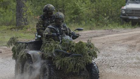 Des soldats estoniens lors des exercices Saber Strike menés avec l'armée américaine en Estonie en 2016