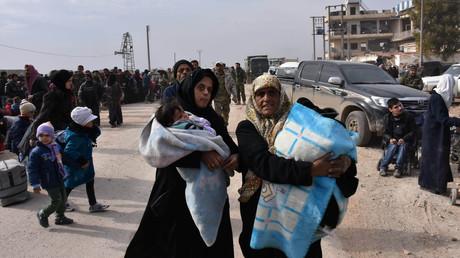Des femmes syriennes à l'est d'Alep