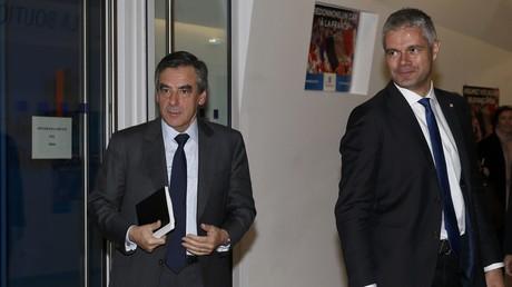 François Fillon et Laurent Wauquiez, le 29 novembre 2016, photo ©Reuters/Jacky Naegelen