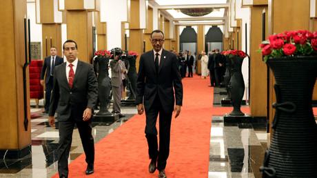 Arrivée du président rwandais Paul Kagame au sommet de Marrakech