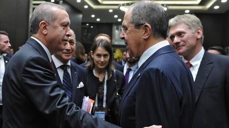 Recep Erdogan et Sergueï Lavrov