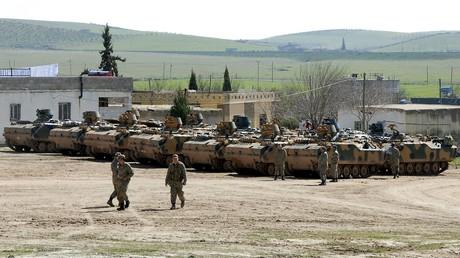 Les véhicules blindés turcs