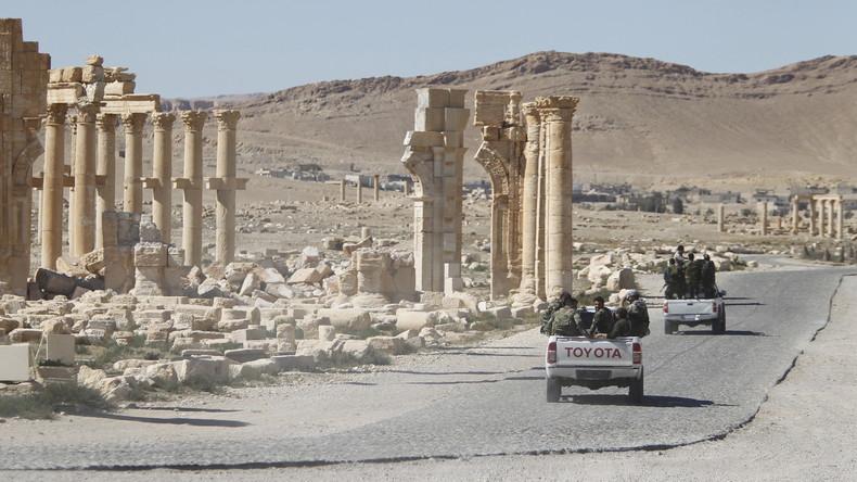 Les forces syriennes à Palmyre