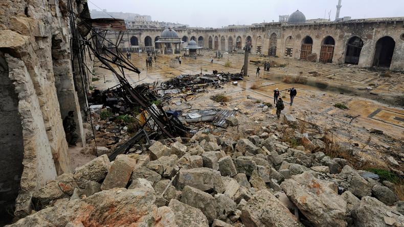 La mosquée Umayyad à Alep