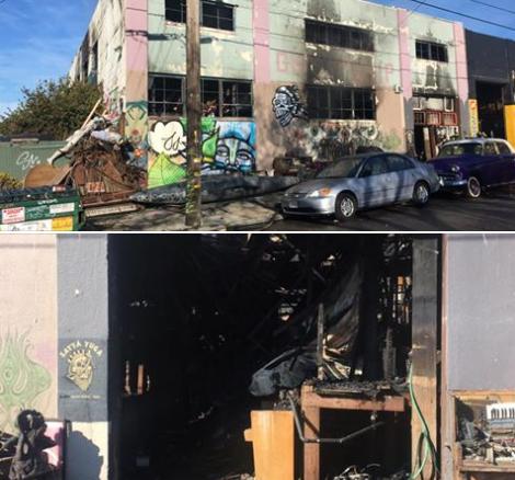 San Francisco : 30 à 40 morts dans l'incendie qui a terni la fête d'un collectif d'artistes (IMAGES)