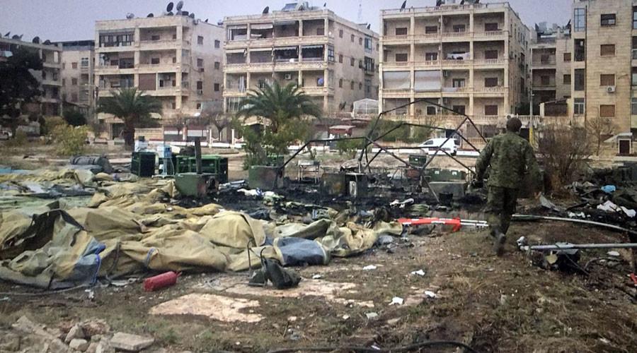 Deux ambulanciers russes tués dans un bombardement rebelle sur un hôpital mobile à Alep (IMAGES)