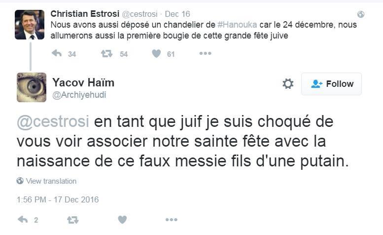 Noël, Hanoucca... Les tweets d'Estrosi et Vallaud-Belkacem mettent Twitter en émoi
