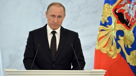 Vladimir Poutine lors de son discours devant l'Assemblée fédérale en 2015