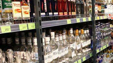 Un magasin d'alcool russe