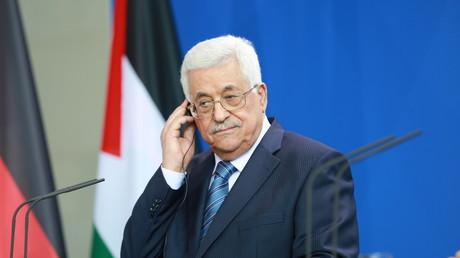 Le président palestinien, Mahmoud Abbas, lors d'une rencontre à Berlin en 2016