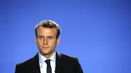 Le candidat de En marche! à la présidentielle, Emmanuel Macron