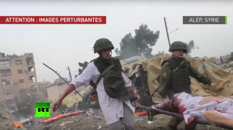 L'hôpital mobile russe d'Alep touché par des frappes rebelles, peu après celles-ci
