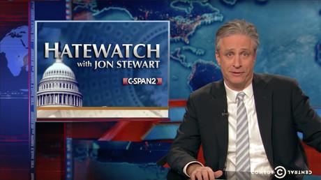 Jon Stewart, animateur jusqu'en 2015 de son célèbre «The Daily Show» sur Comedy Central, capture d'écran YouTube, DR.