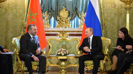 Rencontre à Moscou en 2016 entre le président russe Vladimir Poutine et le roi marocain Mohamed VI