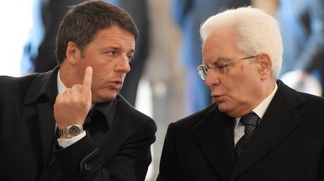 Matteo Renzi et Sergio Mattarella