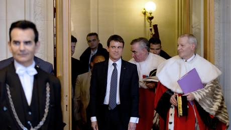 Manuel Valls à la Cour de cassation en janvier 2015