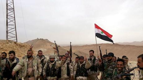 Les forces loyales au président syrien Bachar el-Assad, Palmyre.