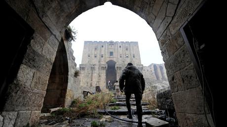 La citadelle historique d'Alep libéré des rebelles