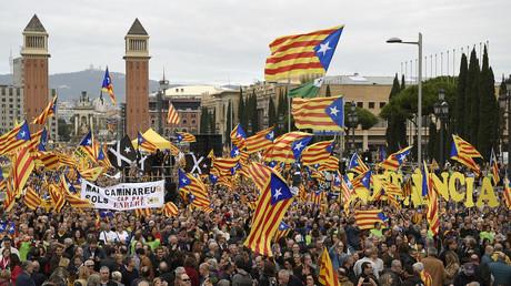 Manifestation à Barcelone le 13 novembre 2016 en faveur de l'indépendance de la Catalogne