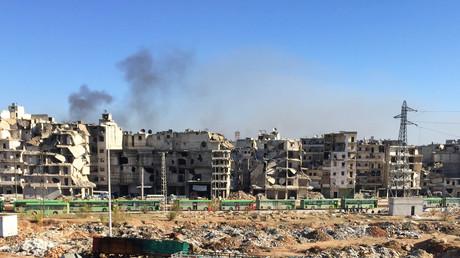 Les bus d'évacuation à Alep