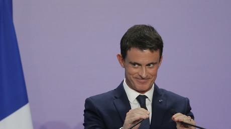 Manuel Valls lors d'une de ses dernières conférences de presse en tant que Premier ministre.