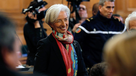 Christine Lagarde lors de son procès à Paris