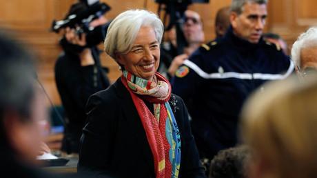 Christine Lagarde lors de son procès à Paris