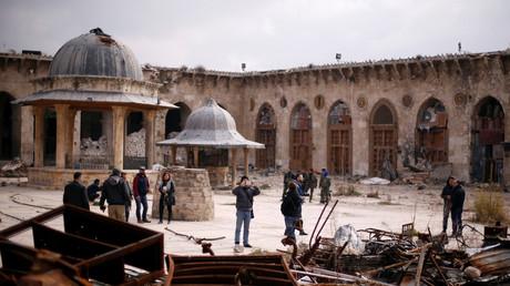 La mosqué d'Umayyad à Alep