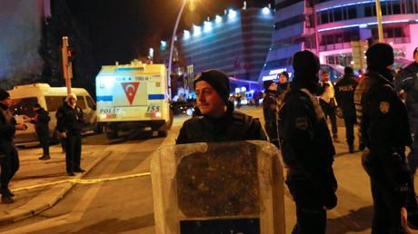 Lieu d'attentat contre l'ambassadeur russe en Turquie, le 19 décembre 2016.