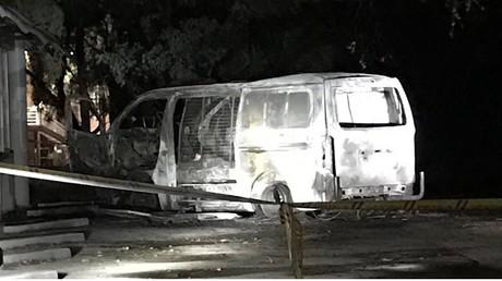 Le van a foncé dans la façade d'une association chrétienne australienne, sans faire de victimes