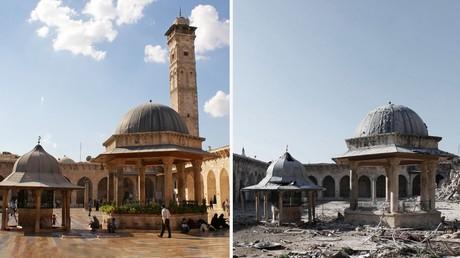 La grande mosquée d'Alep avant et après 2013