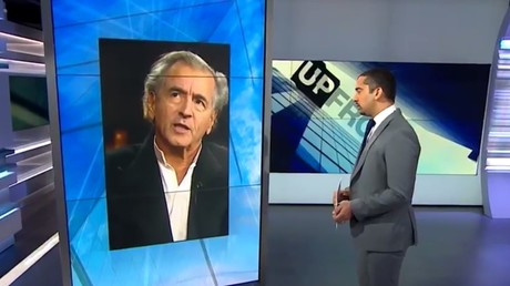 Bernard Henri Lévy sur le plateau d'Al-Jazeera