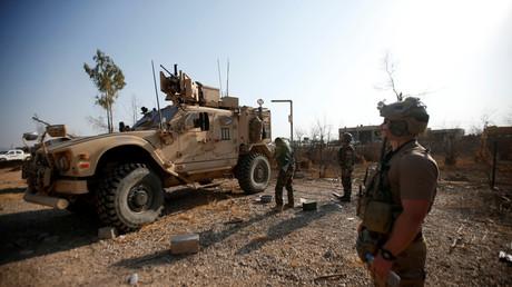 Les véhicules militaires américains en Irak, novembre 2016.