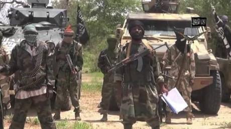 Capture d'écran de vidéo de propagande de Boko Haram