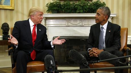 10 novembre 2016 : Donald Trump et Barack Obama lors de leur rencontre à la Maison Blanche.
