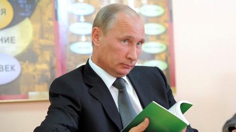 Vladimir Poutine lors de la visite d'une école