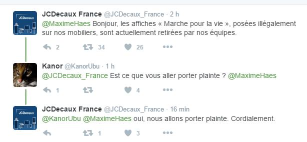 Paris : une campagne d'affichage sauvage anti-avortement pirate JC Decaux et enflamme Twitter