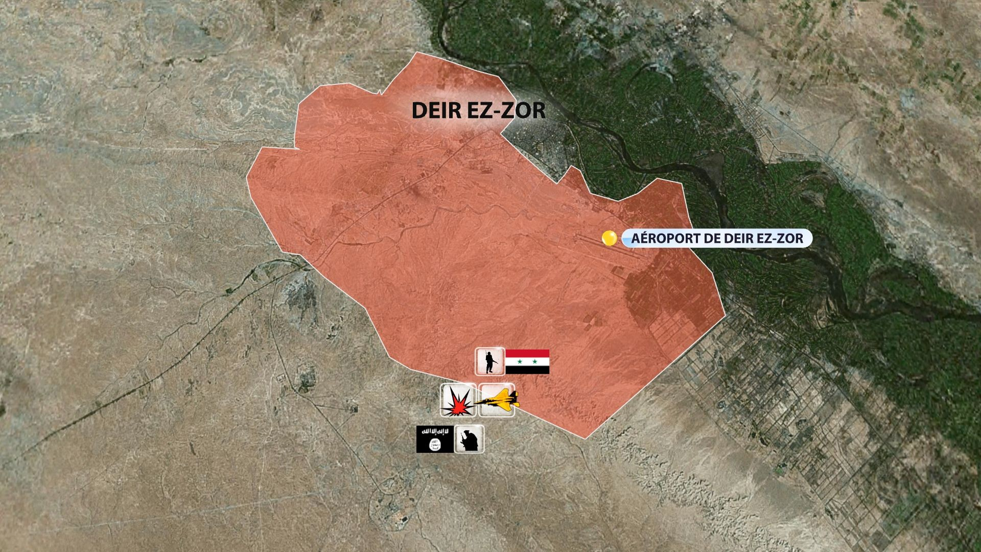 Syrie : Daesh isole la base aérienne de Deir ez-Zor et menace 120 000 civils