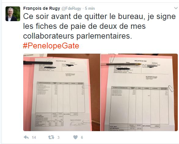 Pensant attaquer Fillon, Rugy révèle malgré lui qu'il paie plus son assistant que son assistante...