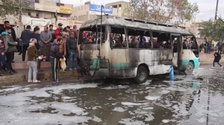 Bagdad : la place Jamila après l'attentat revendiqué par Daesh (VIDEO)