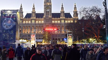Célébration de la nouvelle année en Autriche à Vienne (image d'illustration)