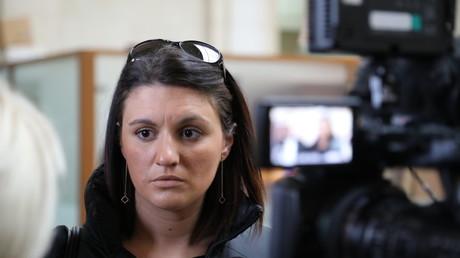 Sandra Bertin, lors d'une audience procédurale à Paris